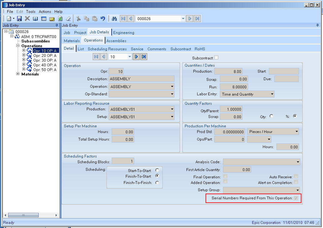 MES Serial Number Workflow for Epicor ERP - SaberLogic