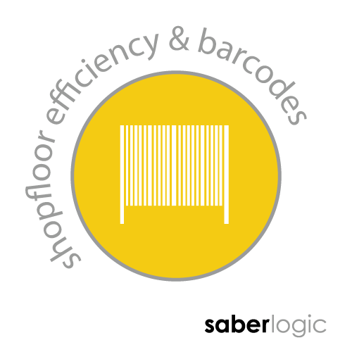 SaberLogic blog heading for increasing efficiency of shop floor with clever uses of barcodes