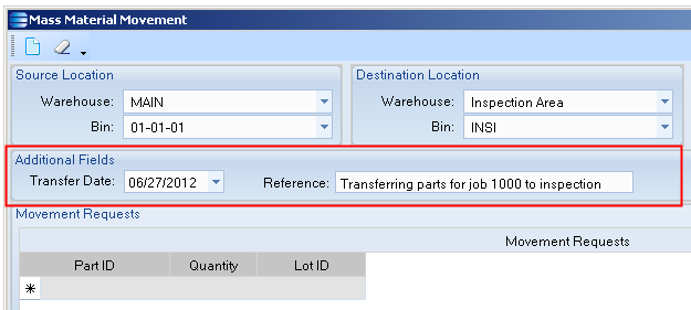 Here you can specify the transfer date and reference data if you wish.