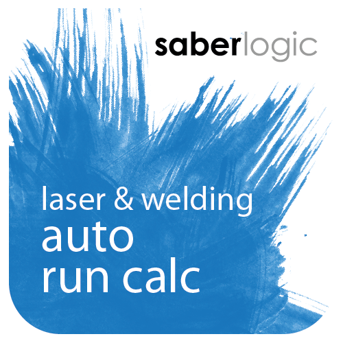 Laser Cutting / Welding Automatic Run Calculations for Infor VISUAL ERP by SaberLogic