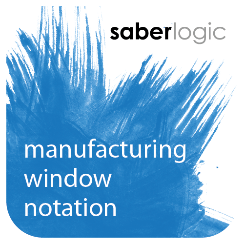 Manufacturing Window Notation Maintenance for Infor VISUAL ERP by SaberLogic - Logo Icon