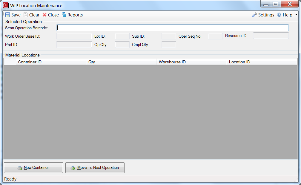 WIP Location Application for Infor VISUAL ERP by SaberLogic - Screenshot 4