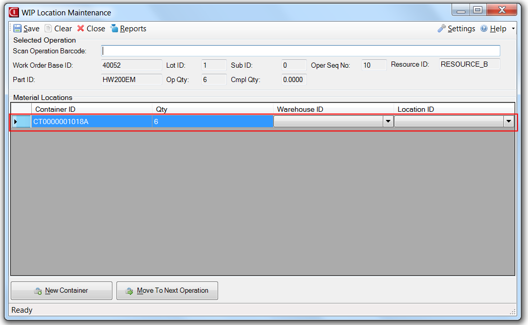 WIP Location Application for Infor VISUAL ERP by SaberLogic - Screenshot 5