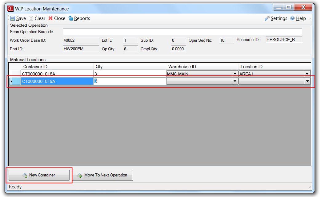 WIP Location Application for Infor VISUAL ERP by SaberLogic - Screenshot 6