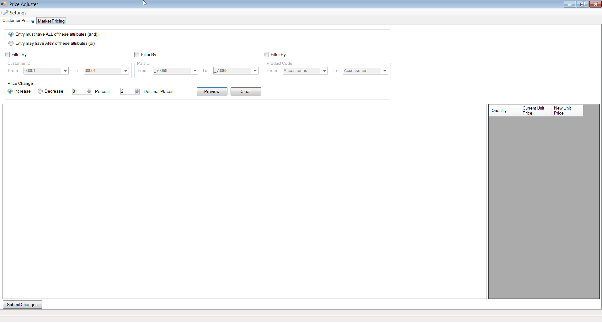 Price Adjuster by SaberLogic for Infor VISUAL ERP - Screenshot 2