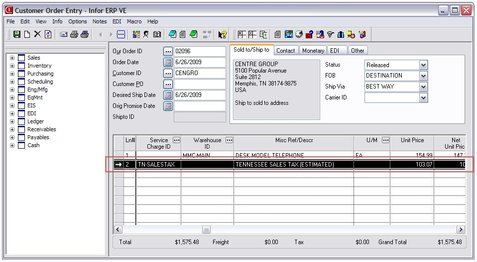 Vms Credit Card Processing >> Sales Tax Reporting & Calculation for VISUAL - SaberLogic