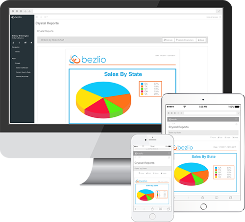 Bezlio for Crystal Reports - provides Crystal Reports viewing on the web