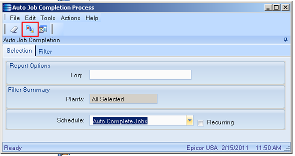 SaberLogic Blog - Automatic Job Closing in Epicor - Image 5 - Click the final process button