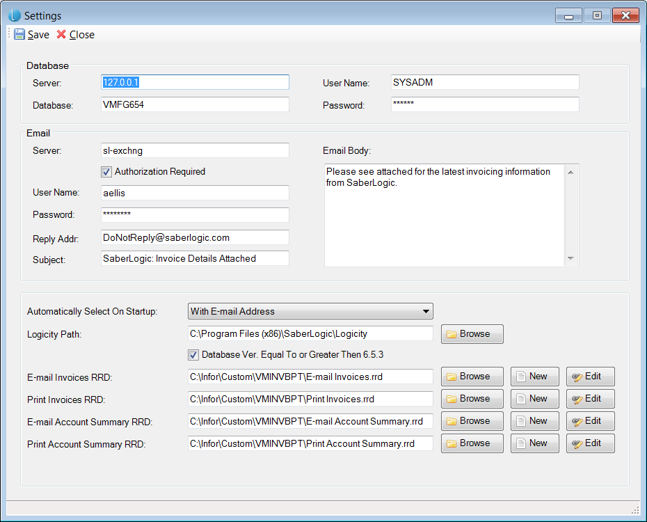 Logicity™ Automatic Payables for Infor VISUAL ERP - SaberLogic - Screenshot 9
