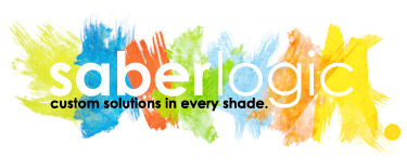 SaberLogic color logo with tagline